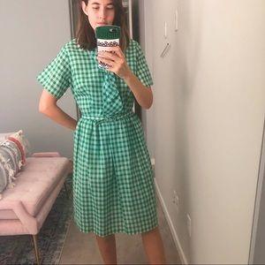 Vintage blue/green checker dress Christy dawn